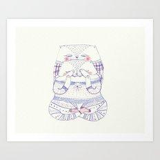 surprise cat Art Print