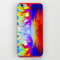 Flaming Forrest iPhone & iPod Skin
