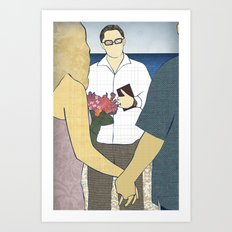 Beach wedding Art Print