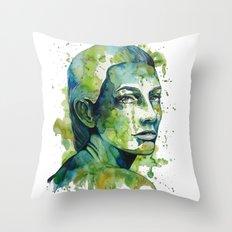 Paulina by carographic Throw Pillow