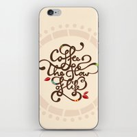 Coffee. The Flow Of Life… iPhone & iPod Skin