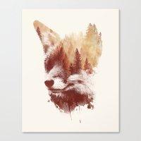 Blind Fox Canvas Print