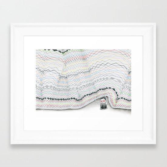 Sous le pull Framed Art Print