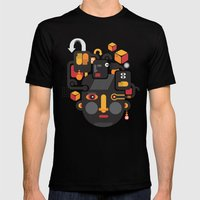 See no evil. Mens Fitted Tee Black SMALL