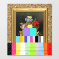 A Painting Of Flowers Wi… Canvas Print