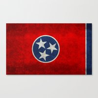 Tennessee State flag, Vintage version Canvas Print