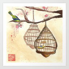 Chinese tea times two Art Print