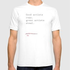 STEALING Mens Fitted Tee SMALL White