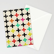 Plus Signs Stationery Cards
