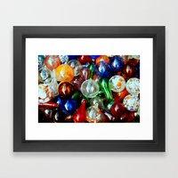 Glass Balls Framed Art Print