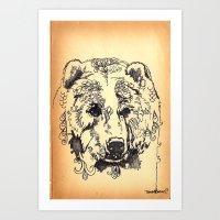 Bear Tears Art Print
