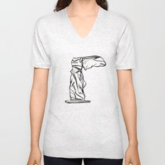 winged victory Unisex V-Neck
