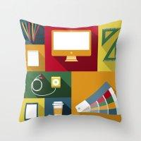 Designer Flat Tools Throw Pillow