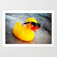 Beach Duck Art Print