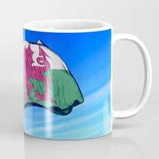 Wales flag waving on the wind Mug