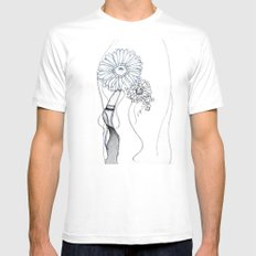 Flower Hair White SMALL Mens Fitted Tee