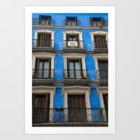 Madrid Blues Art Print