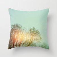 Winter Trees Throw Pillow