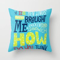 Lost: Chicken Salad Sadwich Throw Pillow