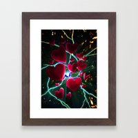 Hearts are meant to break. But there's always more hearts. Framed Art Print