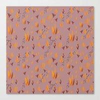 Llama Desert Grass Canvas Print