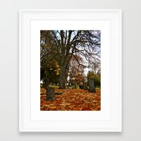 Framed Art Print featuring Autumn's end by Vorona Photography