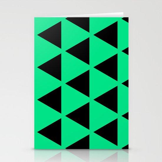 Sleyer Black on Green Pattern Stationery Card