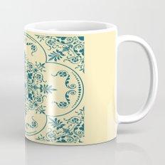 Decorative Pattern in Creme and Blue Mug
