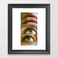 Eyes And Lips. Framed Art Print