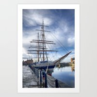 Tall ship Stavros S Niarchos Art Print