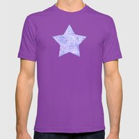 Lavender And White Zenta… Mens Fitted Tee Ultraviolet SMALL