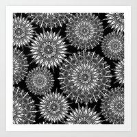 Mandala Negative Art Print
