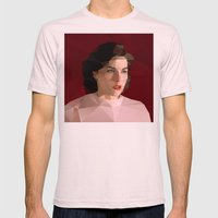 Audrey Horne Mens Fitted Tee Light Pink SMALL