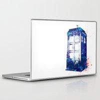 tardis Laptop & iPad Skins featuring Tardis by lauramaahs