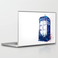 tardis Laptop & iPad Skins featuring Tardis by laurascott