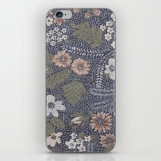 Seafoam Floral Pattern iPhone & iPod Skin
