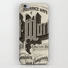 vintage typography iPhone & iPod Skin