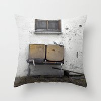 garden furniture... Throw Pillow