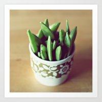 Sugar peas Art Print