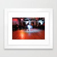 bboy on the floor Framed Art Print