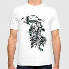 Poetic Llama  Mens Fitted Tee White SMALL