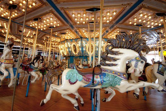 Carousel in Seaside Art Print