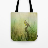The Meadow Lark Sings Tote Bag