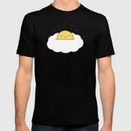 Sunny Breakfast Egg Clou… Mens Fitted Tee Black SMALL