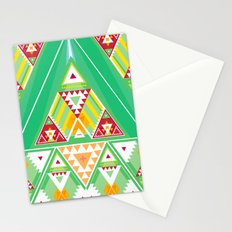 Triangle Indigenous Pattern Stationery Cards