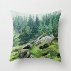 Irish Wilderness Throw Pillow