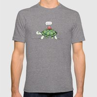 The Snail & The Turtle Mens Fitted Tee Tri-Grey SMALL