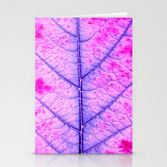 leaf abstract IV Stationery Card