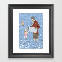 Ice Creamed Framed Art Print