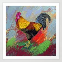 Rooster-3/  Art Print